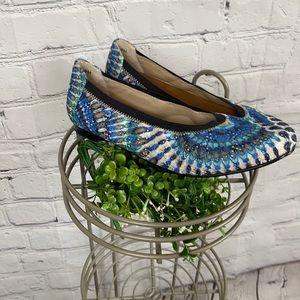 Tropical Exotic Blue Ballet Flats By Rose Petals